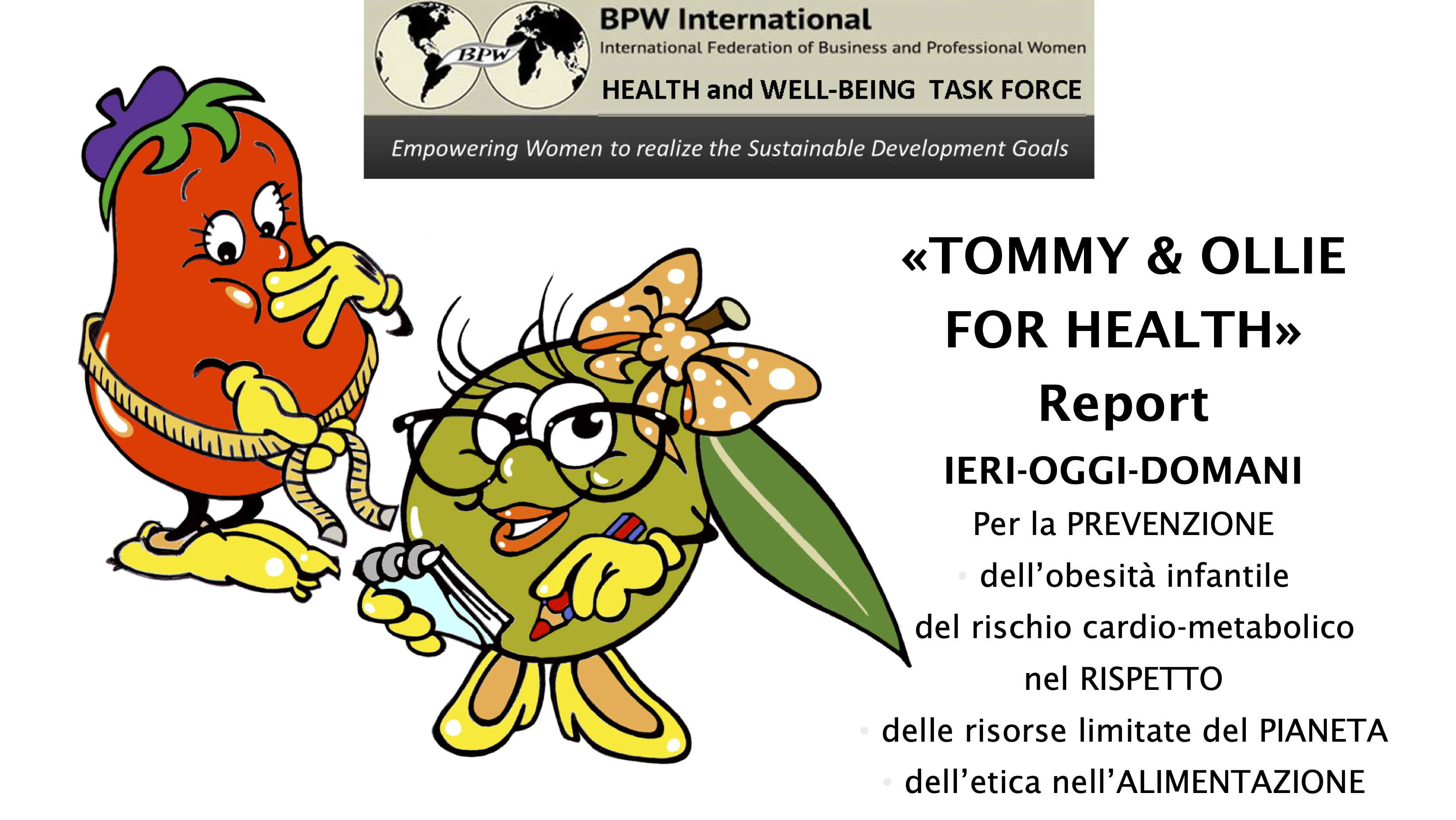 """Progetto """"Tommy & Ollie for health"""""""